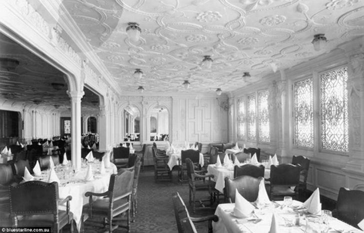 Зал был сделан в том же стиле, что и на «Титанике», — в стиле жакоб.