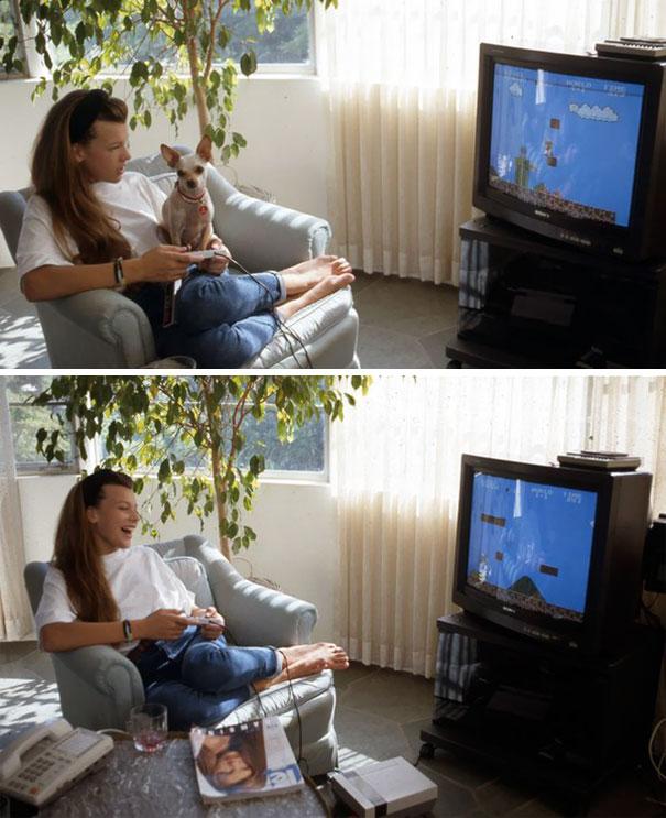 12-летняя Милла Йовович играет в «Супер Марио».