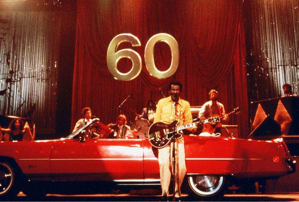 Чак Берри снялся в нескольких фильмах: «Рок, рок, рок», «Давай, Джонни, давай» (названный по его пес