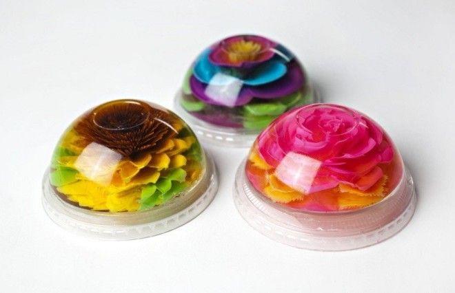 3D цветы в желе: как делают 3д желе Делаем основу — прозрачное желе с сахаром и лимонной кисло
