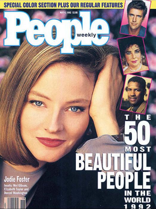 Джоди Фостер, 1992 год. Но можно и брюнеткой.