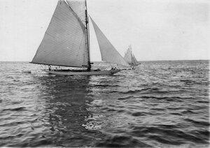 Яхты во время соревнований в Финском заливе
