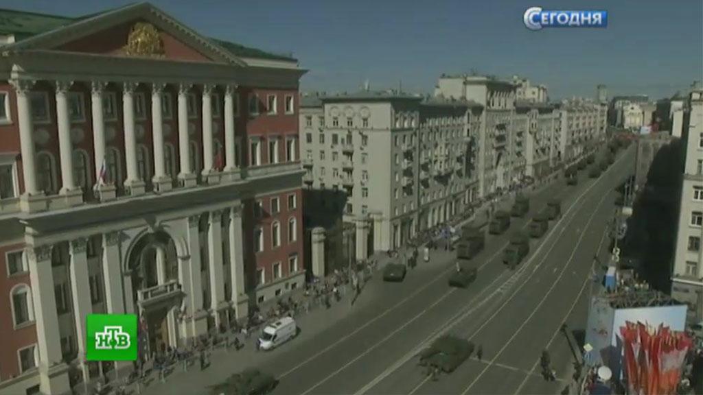 НаКрасной площади стартовала генеральная репетиция Парада Победы