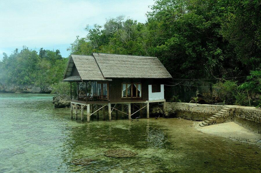 Домики на воде