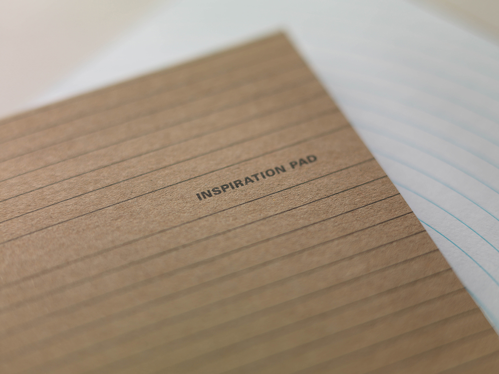 The New 'Inspiration Pad' Turns the Conventional Blue-Lined Notebook Upside Down