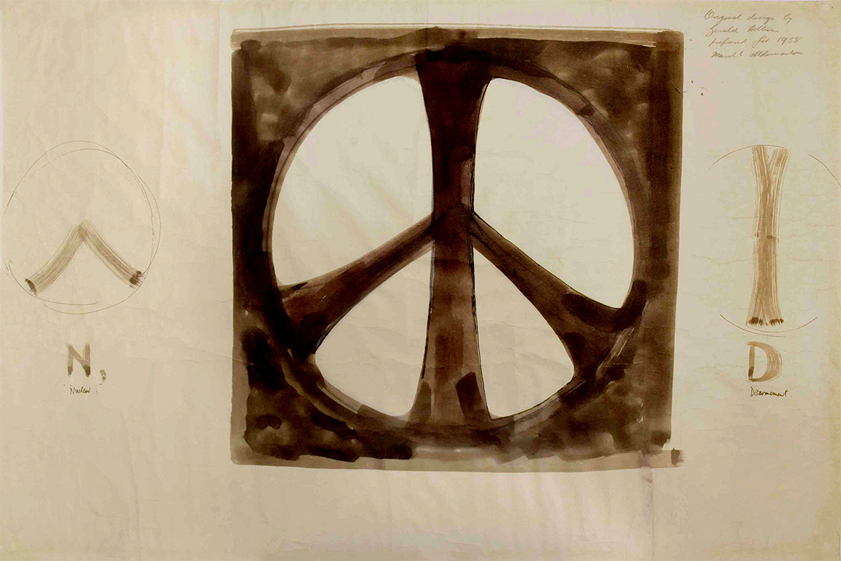 Delicate Sketches of the Original Peace Symbol to be Exhibited in London (2 pics)