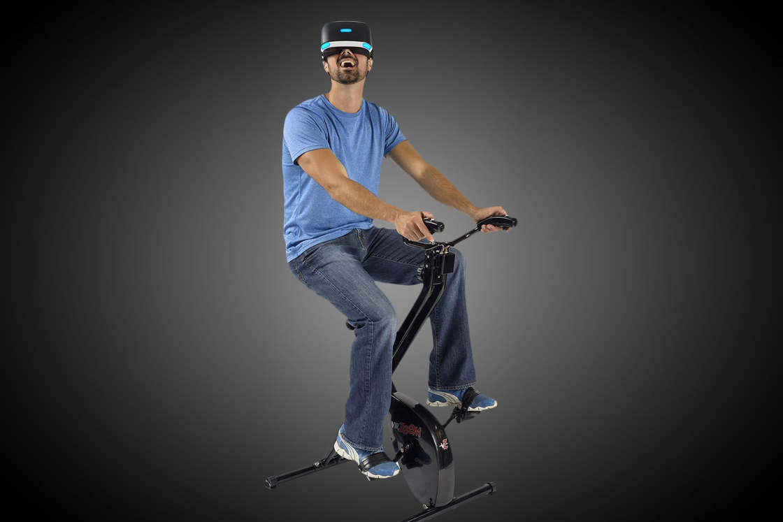 Virtual Reality meets Exercise Bike - Black Mirror is coming?