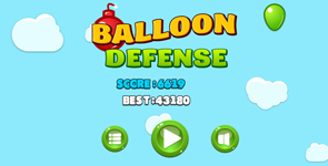 construct2 game. Download free construct2 project. Balloon game