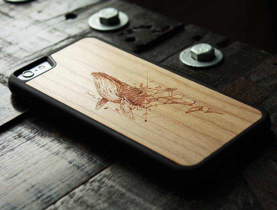 Refined Carved Wood Cases for Phones