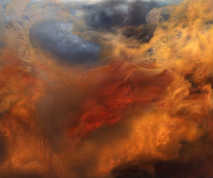 The abstract paintings of Samantha Keely Smith depict the violent clash of forces in all of us