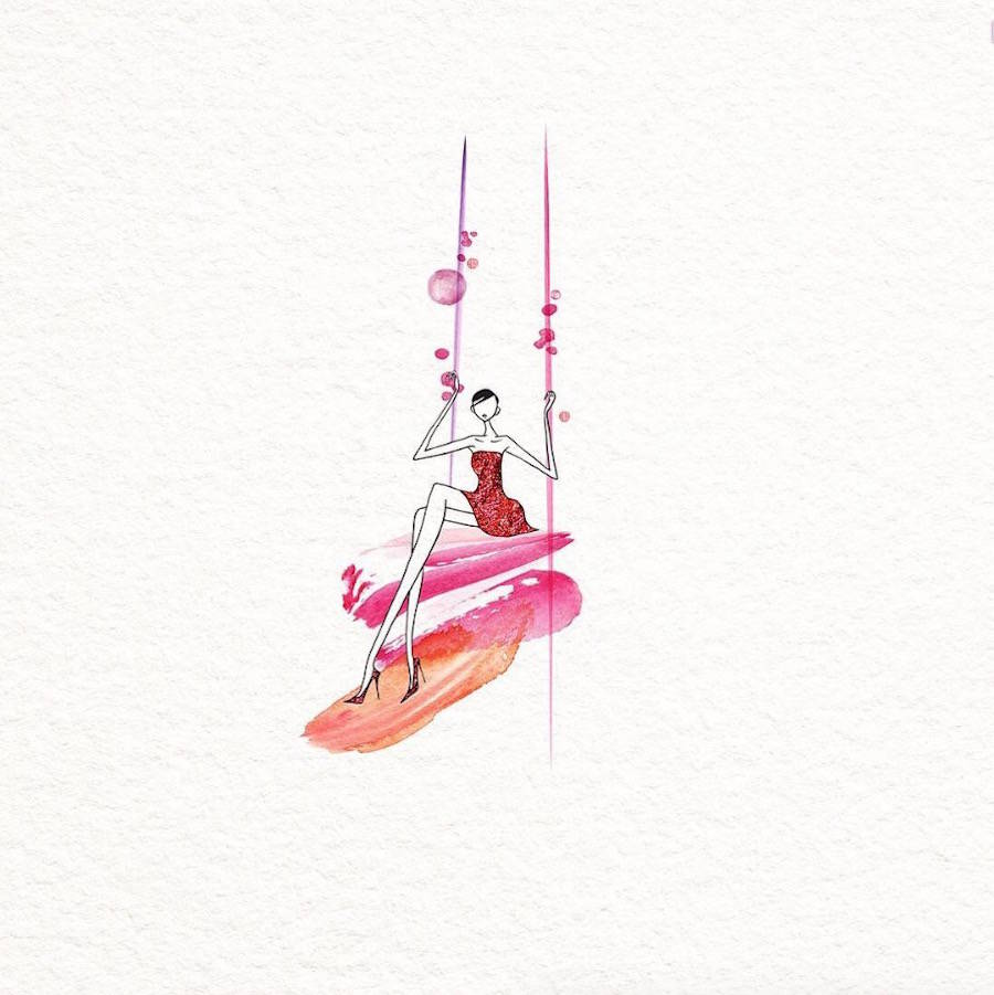 Amazing Fashion Illustrations with Watercolor Dresses