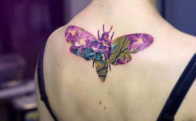 A incrivel tecnica de dupla exposicao nas tatuagens de Andrey Lukovnikov