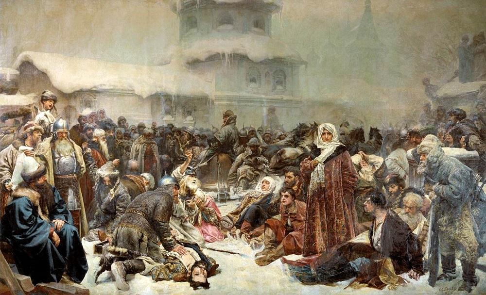Марфа Посадница. Уничтожение новгородского веча, 1889, ГТГ.jpg