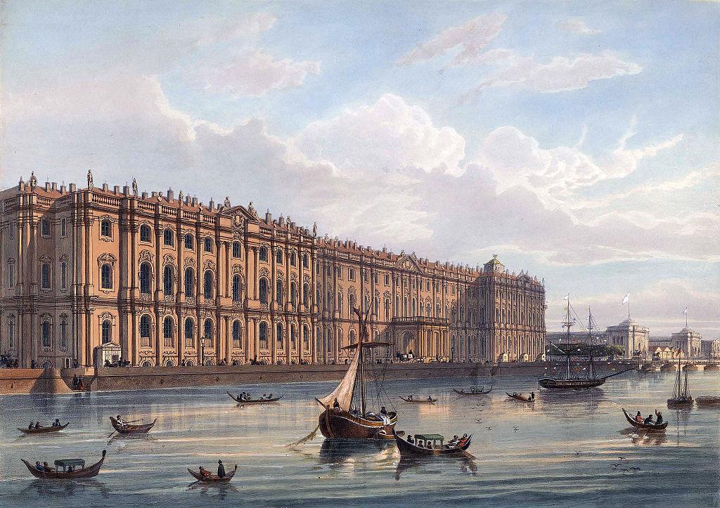 В середине XIX веке в окраске дворца появились красные оттенки.jpg