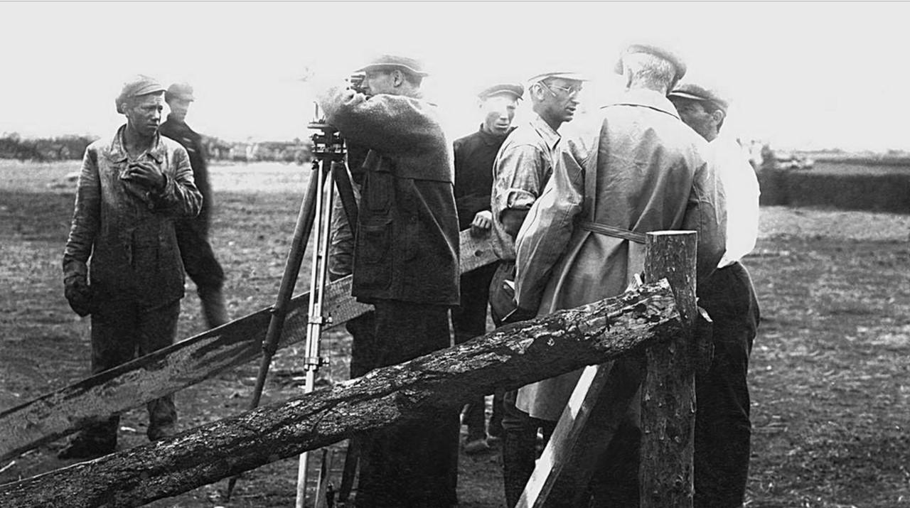 1929. Челябинск. Разметка площадки для строительства ЧТЗ