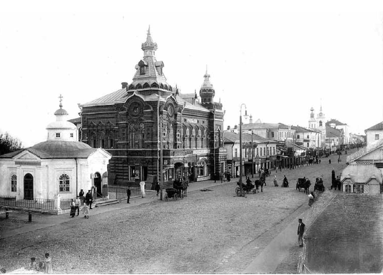 Большая Московская улица. Вид начала улицы с северо-востока. Иодко В.В. 1909-1913