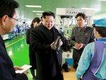 Ким Чен Ун в Вонсане на обувной фабрике в провинции Кангвон.jpg