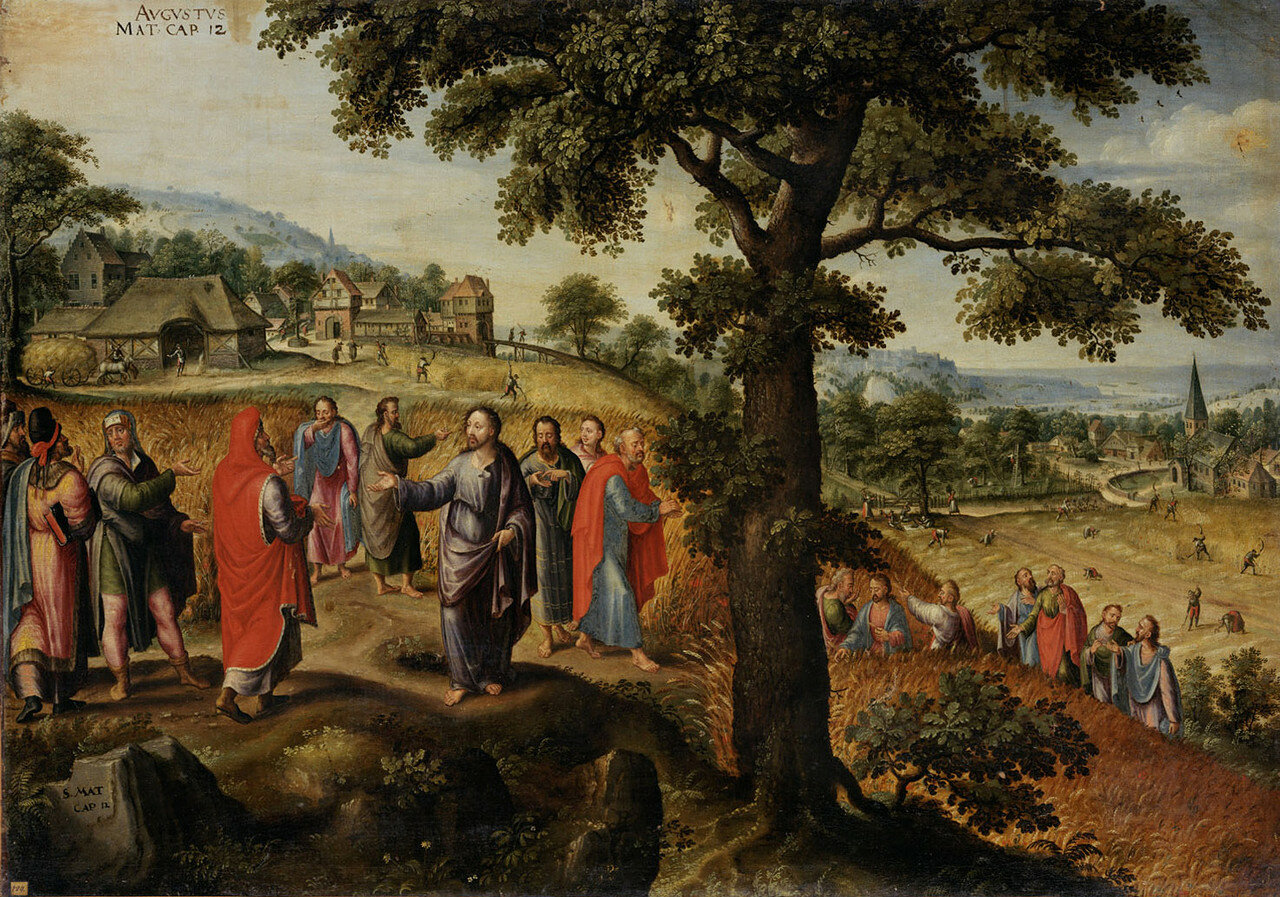 Marten_van_Valckenborch_-_Christ_defends_the_plucking_of_the_ears_of_grain_on_the_Sabbath_(August).jpg
