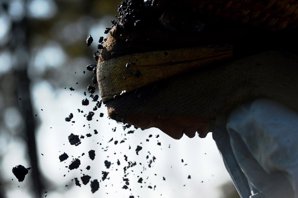 12. Угольный разрез Бородинский под Красноярском, 15 ноября 2012. Здесь работают гигантские экс