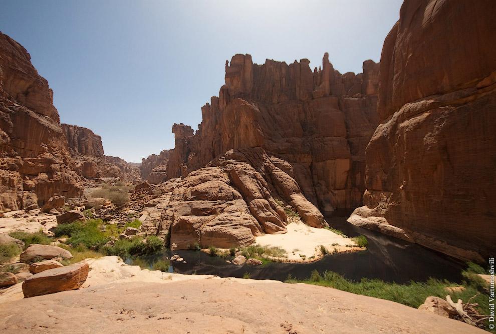 Вид на каньон и начало гельты: