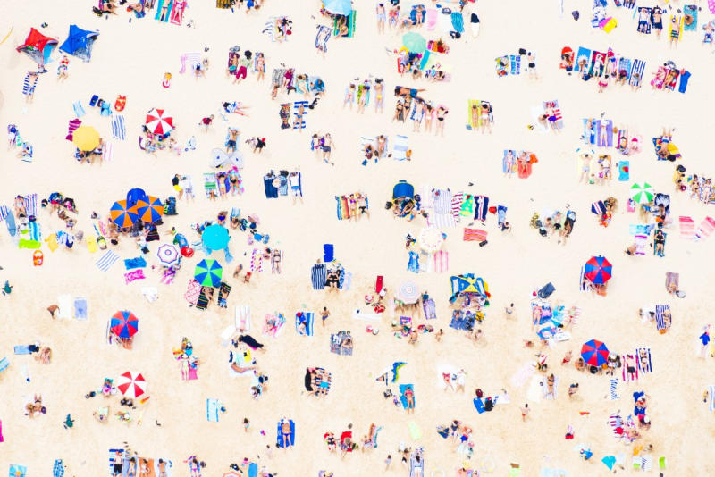 Bondi Beach, Sydney, Australia He photographs everything with a digital camera, so he has to