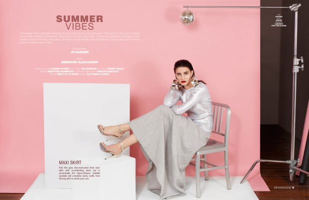 Summer Vibes: Martyna Frankow Stars in Design SCENE Magazine (8 pics)