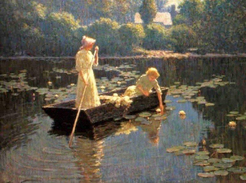 3 Abbott Fuller Graves (American artist, 1859 – 1936) Pond Lilies.jpg