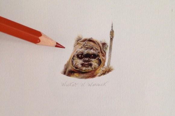 Artista cria micro ilustracoes de Star Wars