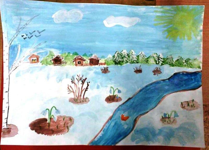 Весна - Подзвозных Вероника , 7 лет, Тема -- Рисунок, г. Пермь.jpg