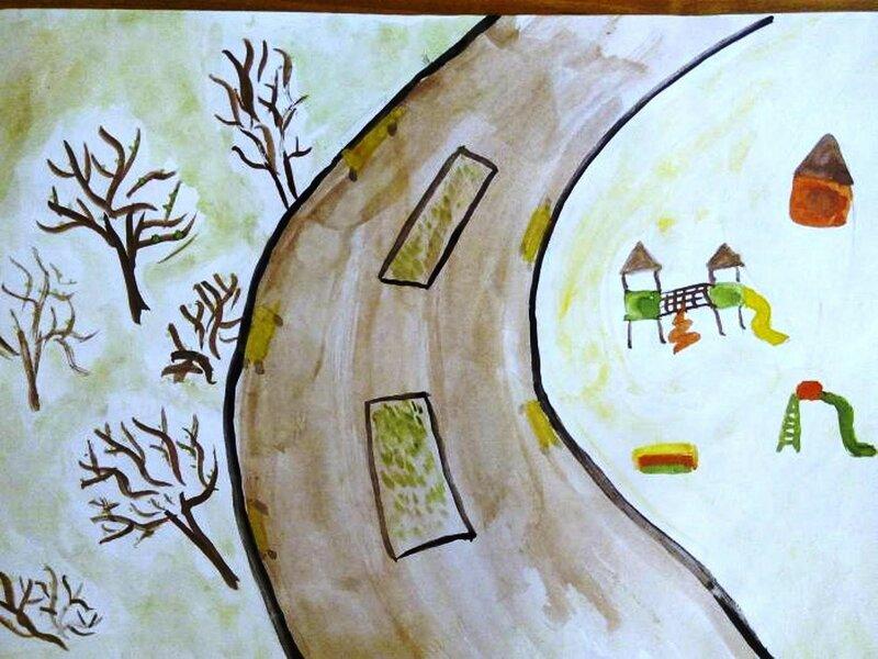 Ранняя весна - Шаньчук Алиса Александровна, 6 лет, Тема -- Рисунок, г. Волгоград.jpg
