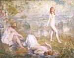 Three Girls Bathing, Thame