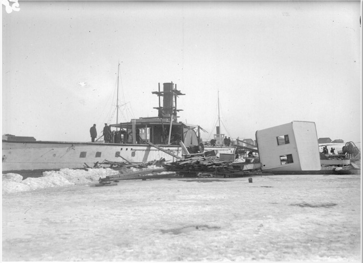 1915-1916. Разборка парохода