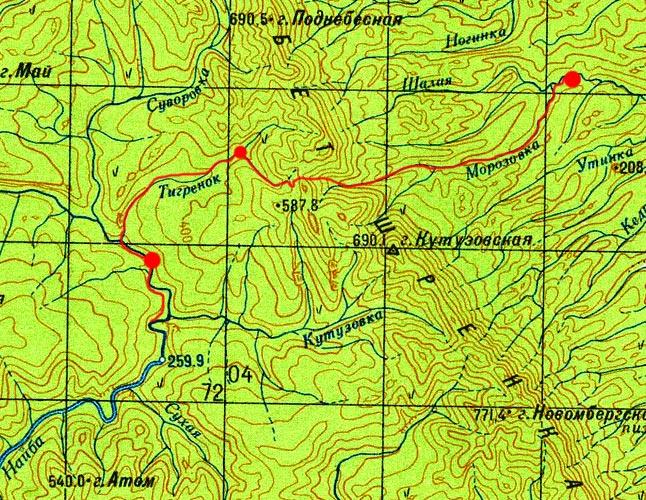 Карта маршрута 26 августа