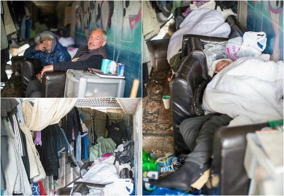Бомжи Толик и Валера живут в тоннеле под дорогой в Манчестере
