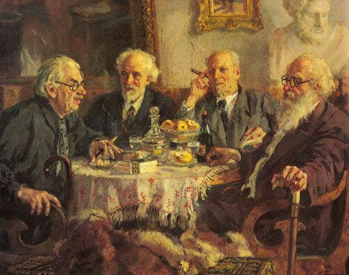 А. Герасимов. Портрет старейших советских художников