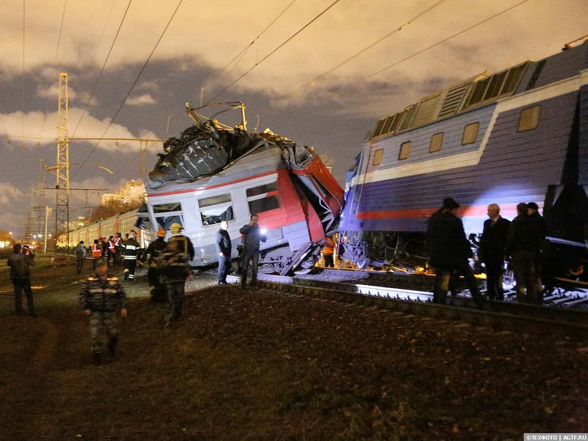 Столкновение поездов на перегоне Фили-Кунцево.