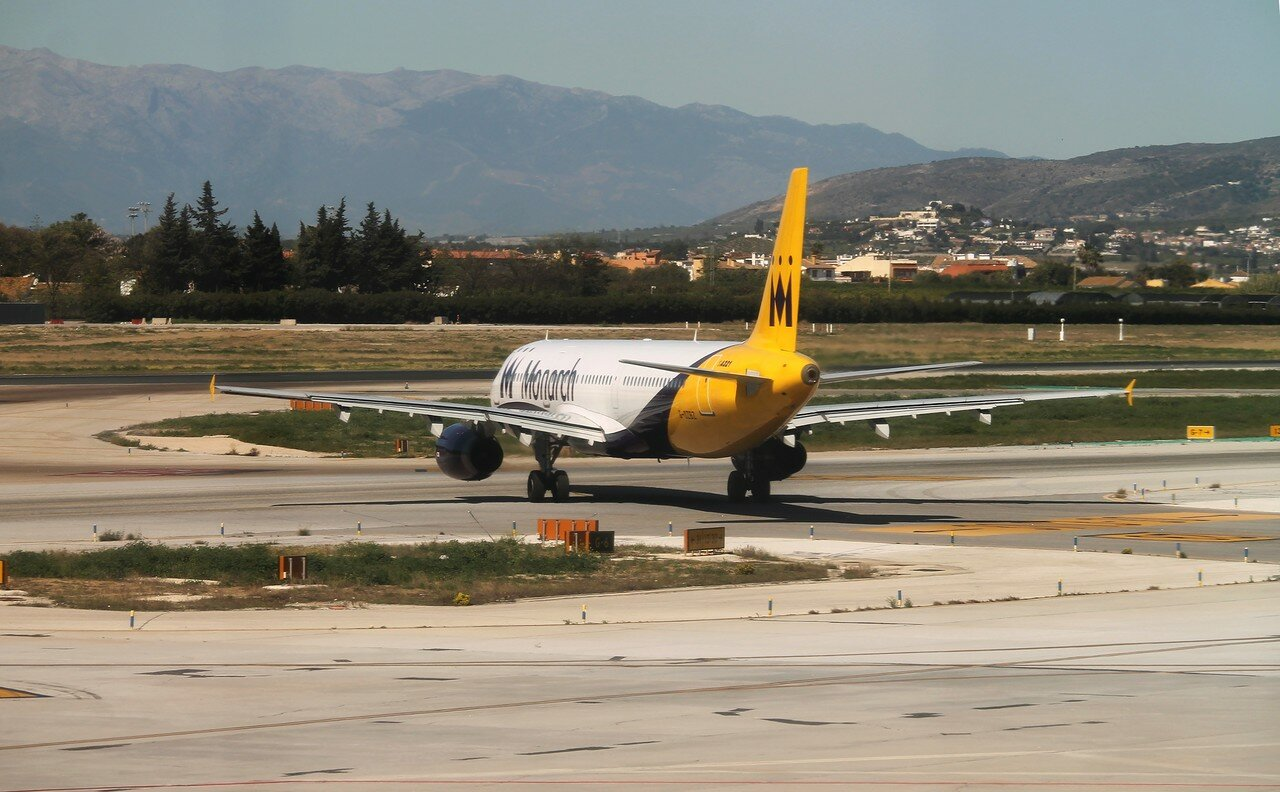 Airport Malaga-Costa del Sol. Monarch Airlines A321