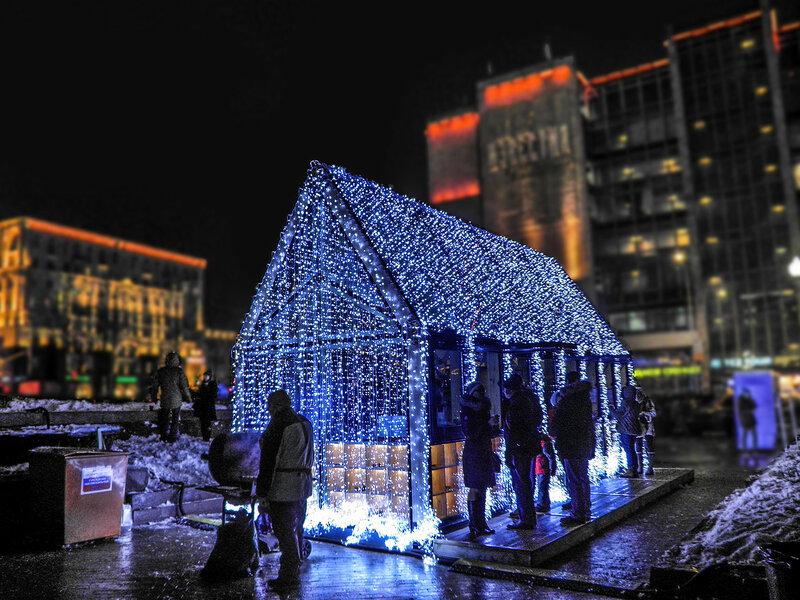Новогоднее оформление на Пушкинской