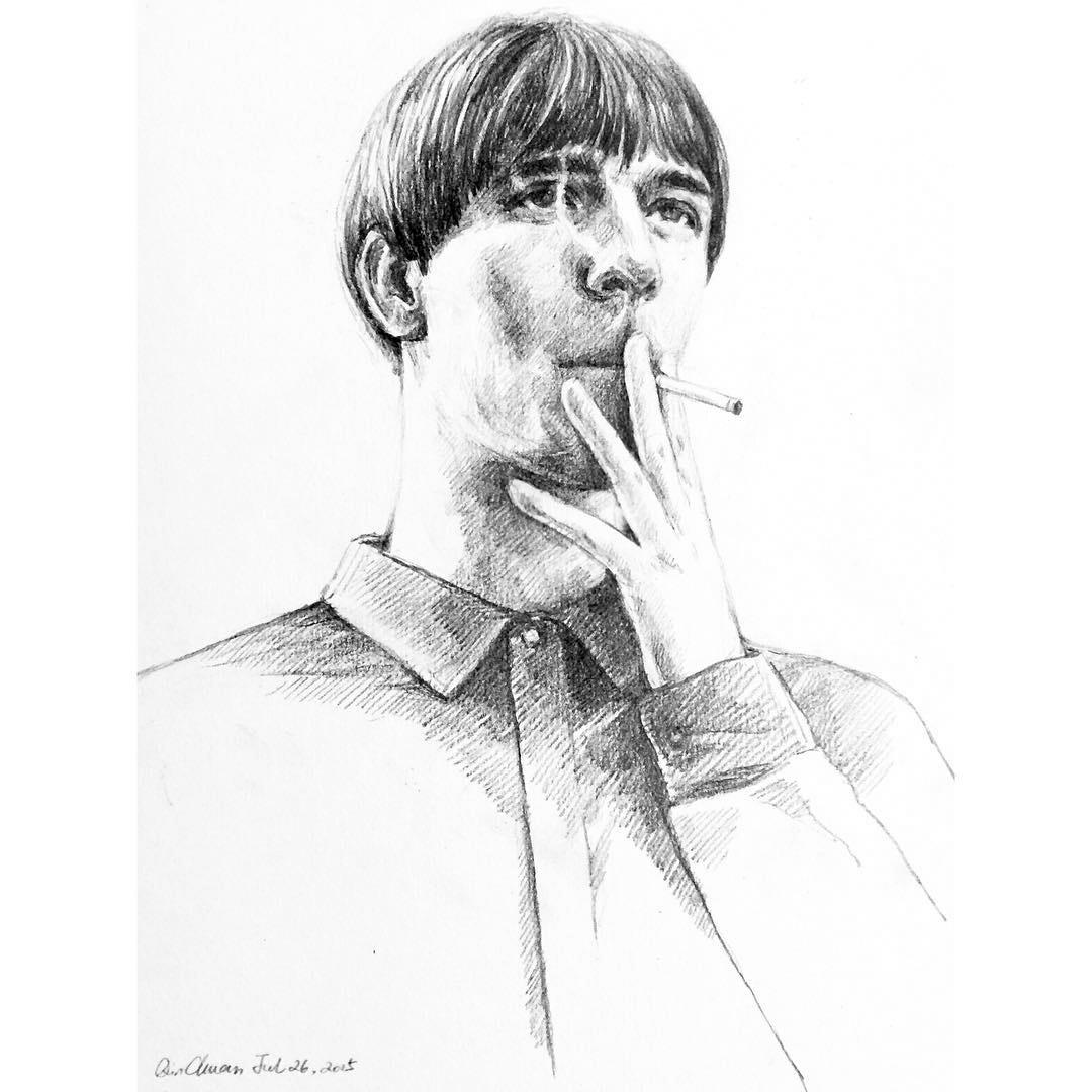 O jovem Dylan Qin mostra com sensibilidade a moda contemporanea atraves de suas ilustracoes