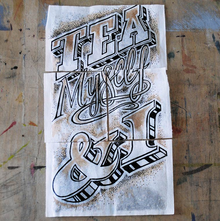 Coffee Time Lettering - De jolies typographies sur des objets du quotidien