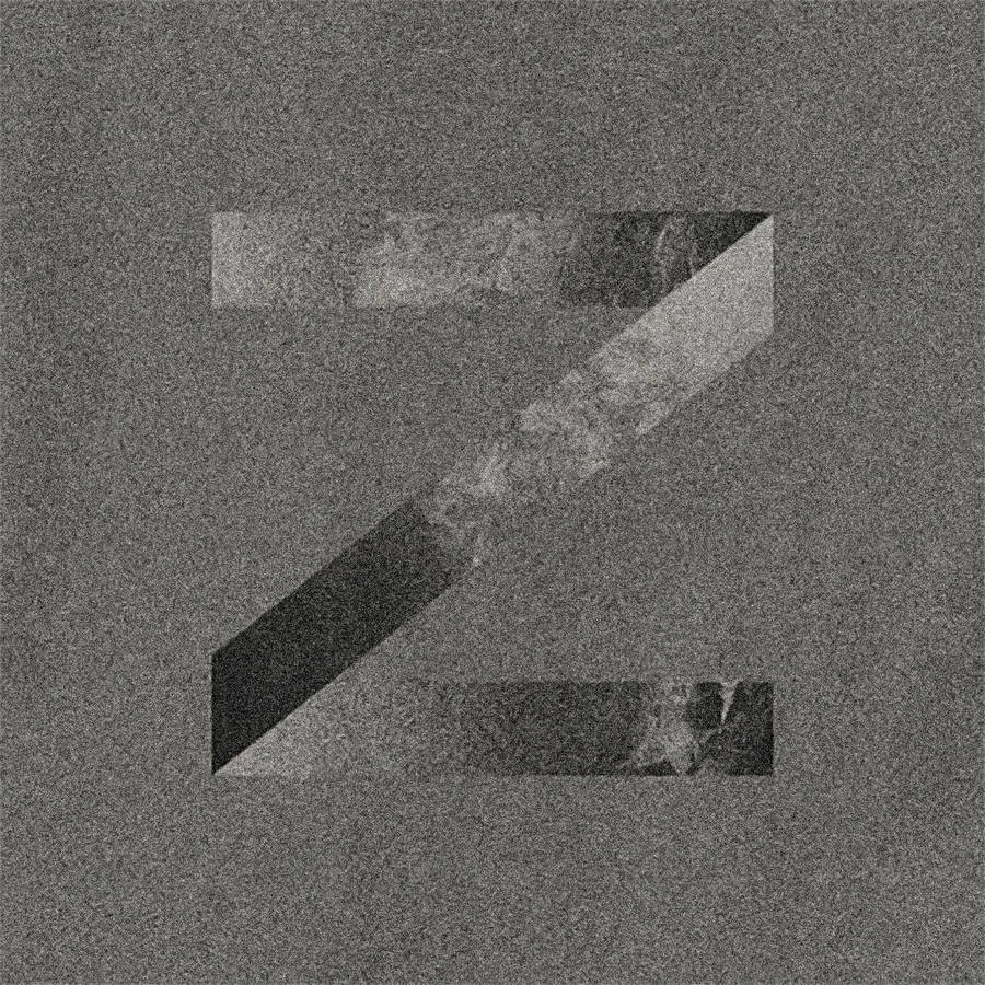 Abstract Monochrome Alphabet Letters