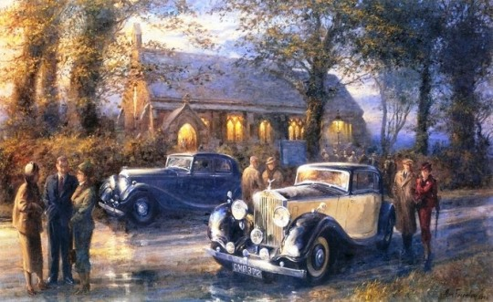 Classic Car Paintings by Alan Fearnley (22 pics)