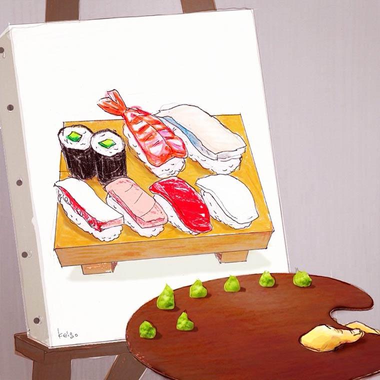 31 nouvelles illustrations adorables et decalees de l'artiste japonais Keigo