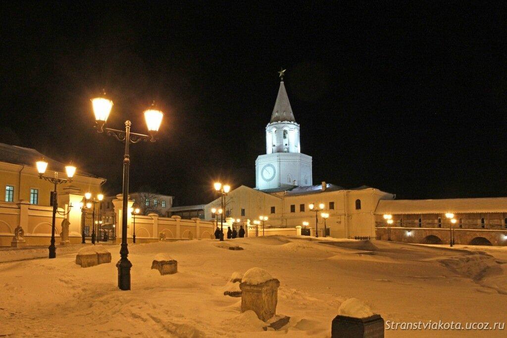 Мечеть Кул Шариф в Казани зимой