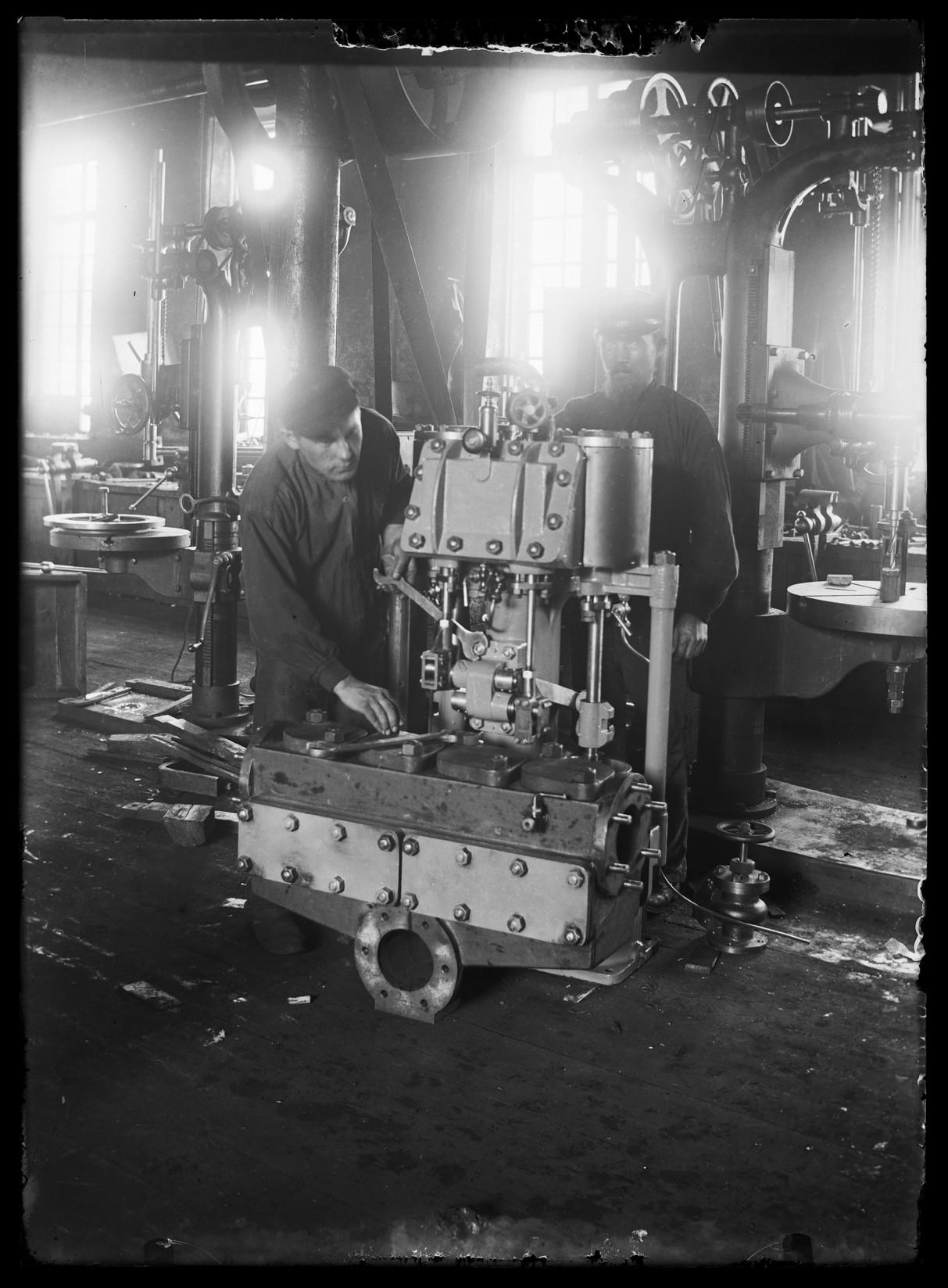 Ремонтная мастерская на  железнодорожной станции Таммерфорс
