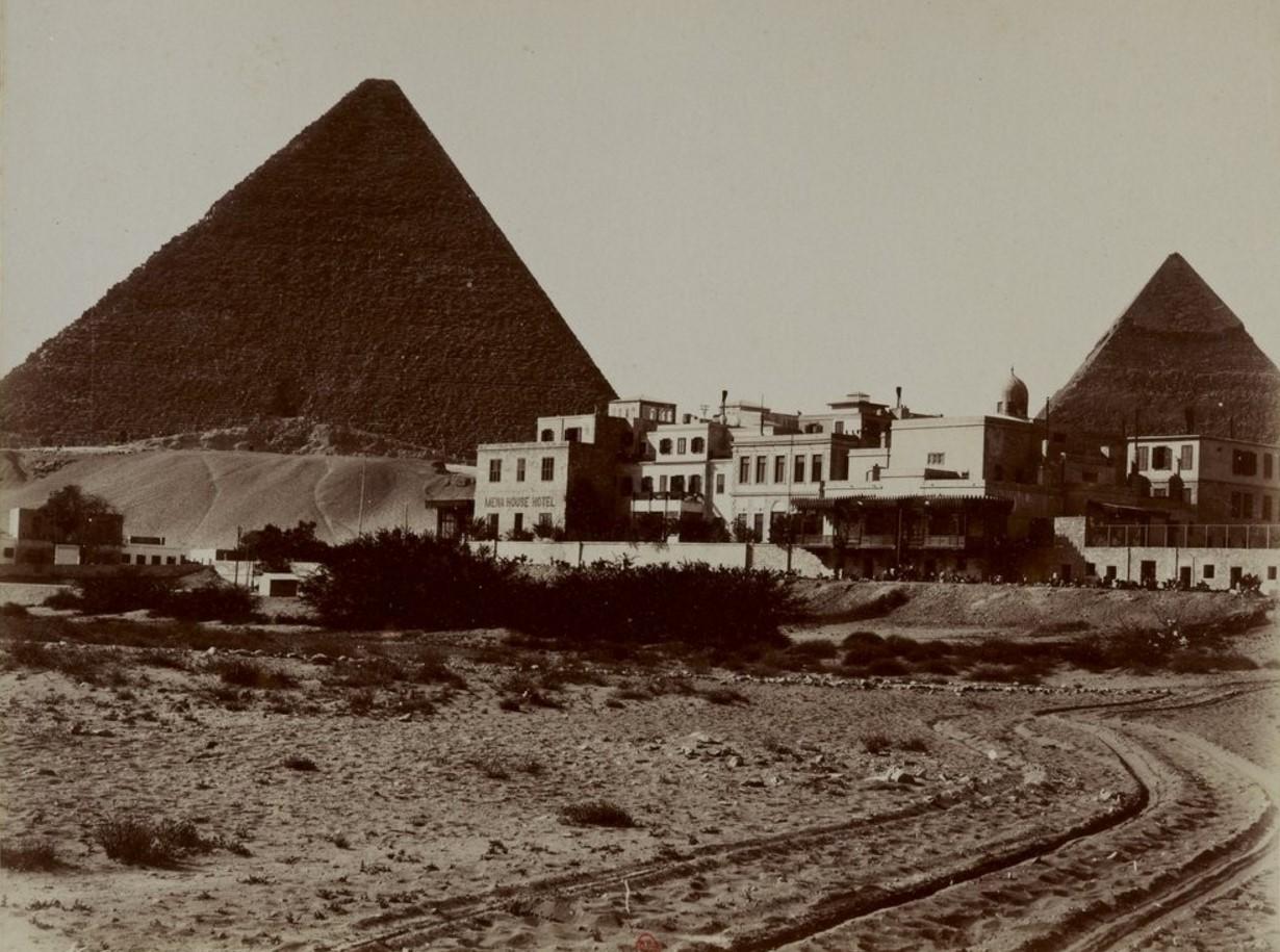 Гиза. Пирамиды и гостиница. 1893