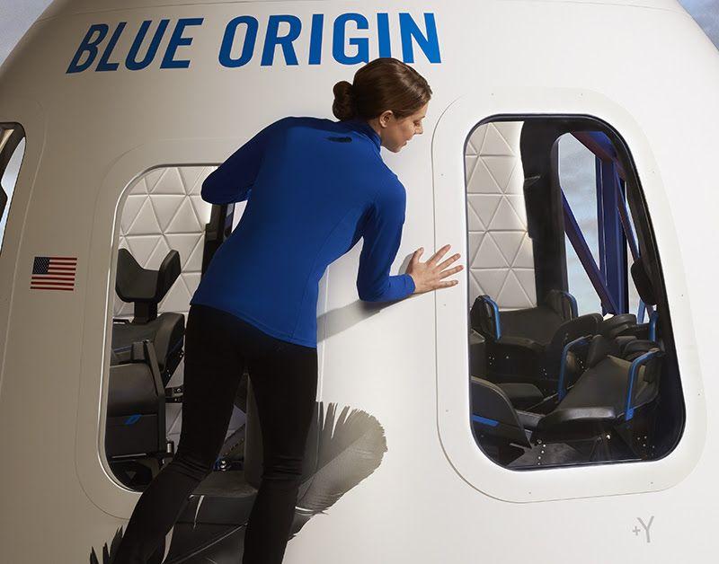 Blue Origin показала удивительные фото капсулы космического туриста