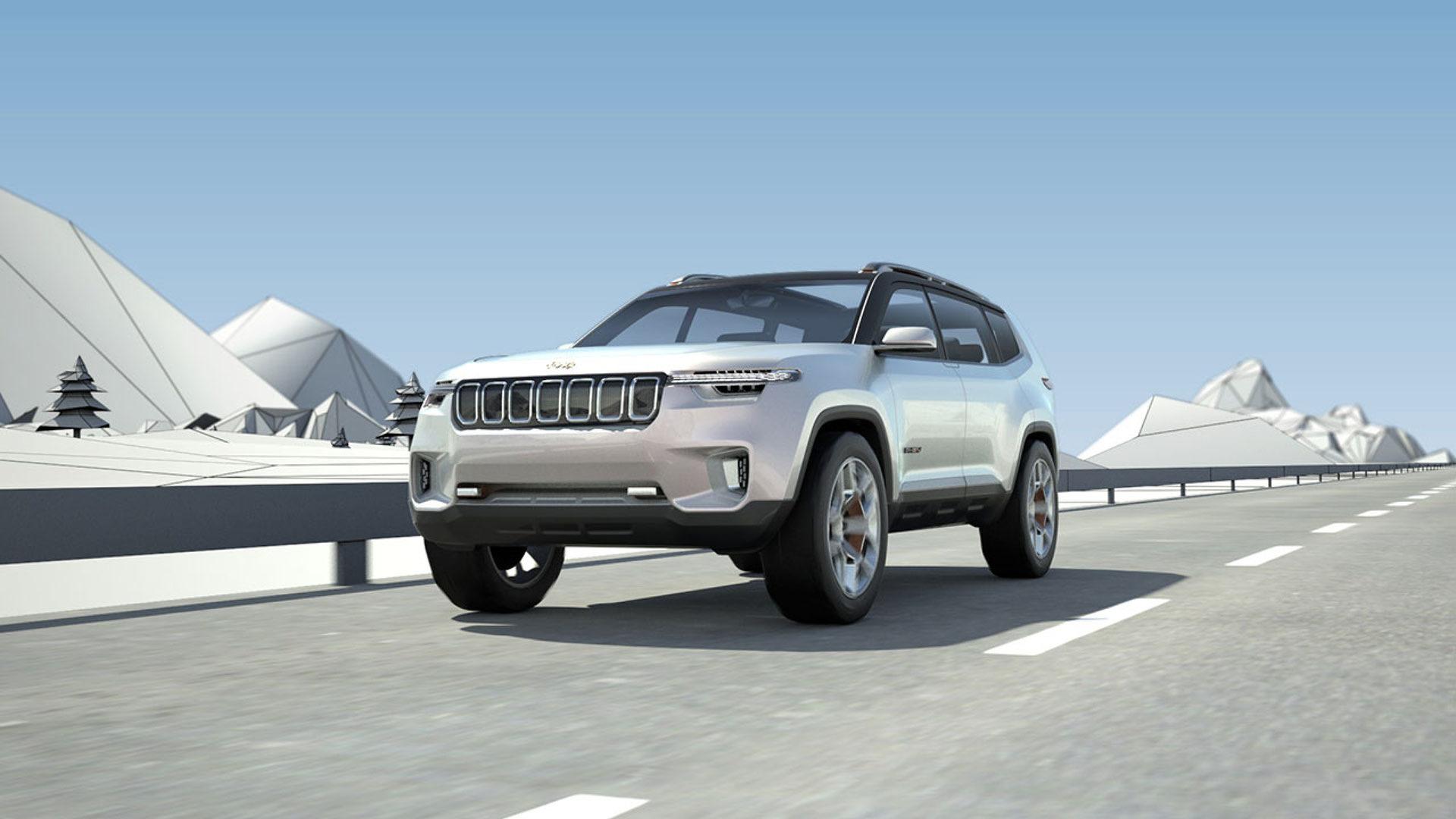 Jeep привез в КНР  немалый  джип  с11 мониторами