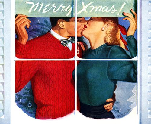 Christmas kiss. Pete Hawley, 1948..jpg