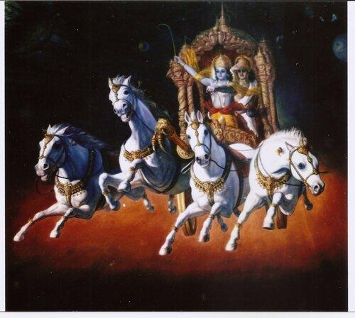 Кришна-Арджуна на Курукшетре